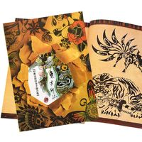 1PCS Chinese Style Tattoo Books Popular Basic Tattoo Design Books A4 Size Outline Stencil Creative Colouring