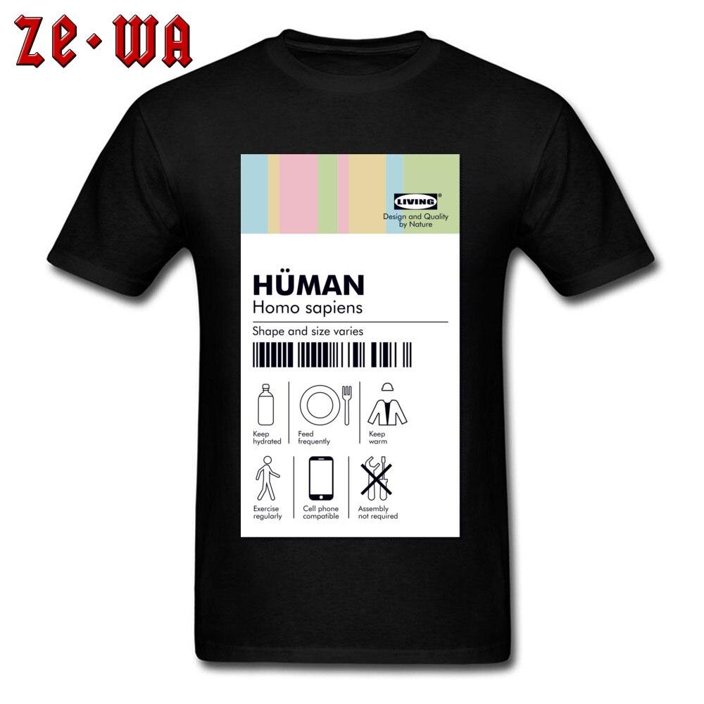 996bfb8e Family Tshirts Guys Funny T-shirt Human Tag T shirt Pure Cotton Men T Shirt