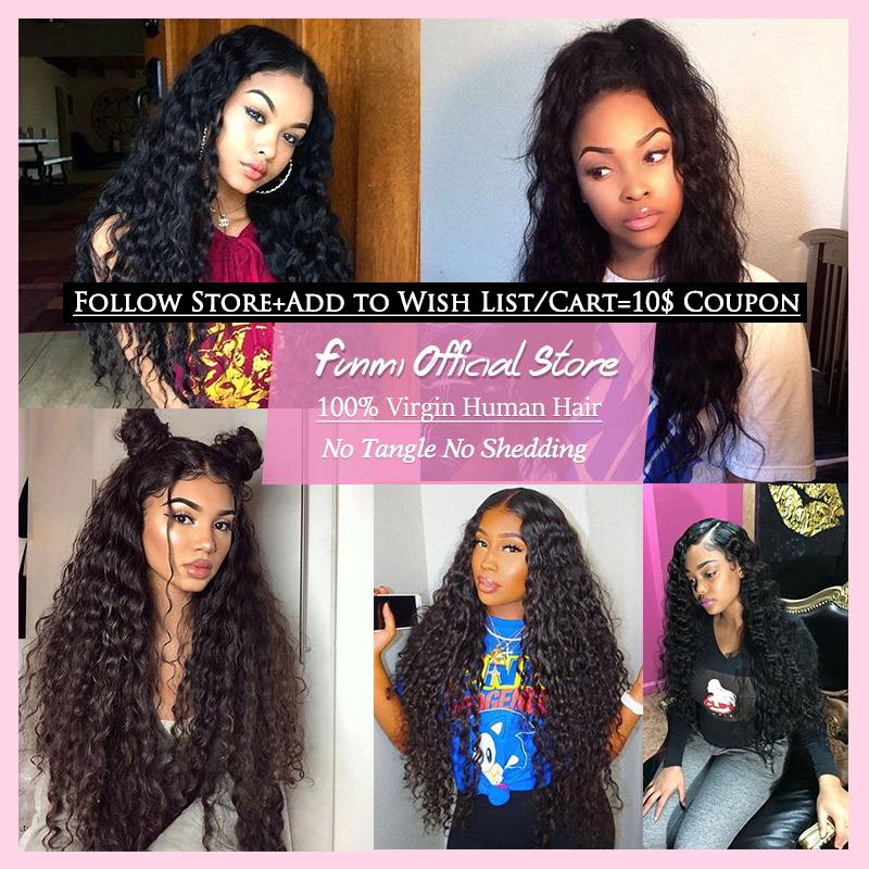 Funmi Virgin Hair Water Wave Bundles Brazilian Hair Weave Bundles Brazilian Virgin Hair Water Wave Human Hair 1/3/4 Bundles/Lot