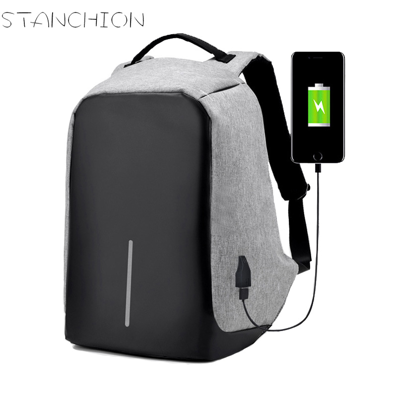 STANCHION Big Capacity School Backpack for Teenagers Laptop Men Anti-theft Business Backpacks USB Charging for Travel bags olidik laptop backpack for men 14 15 6 inch notebook school bags for teenagers large capacity 30l women business travel backpack