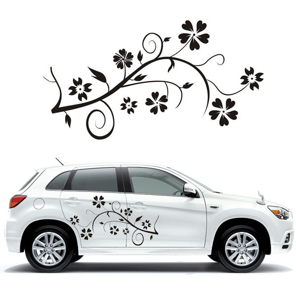 Butterfly flower car sticker quote lettering automobiles wall decals home decorative vinyl decal mural art decor sticker on car in wall stickers from home