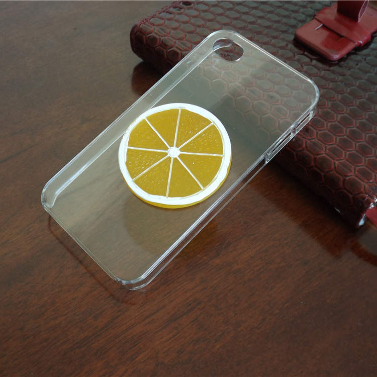 High Quality New Fashion 3D Fruit Hard Plastic Back Cover Case for iphone 4 4S
