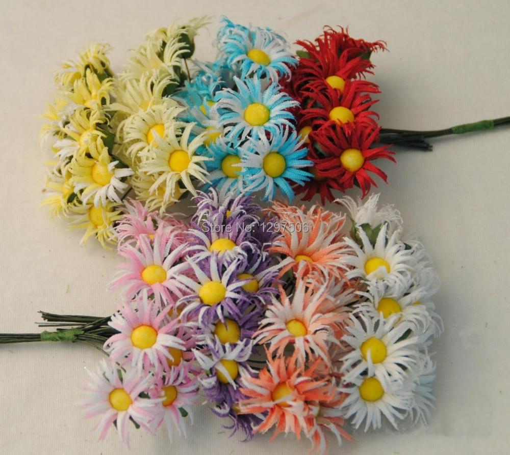 small fabric Chrysanthemum artificial silk mini daisy with stem,diy arrangement decoration bouquet for home,wedding,garland,hair