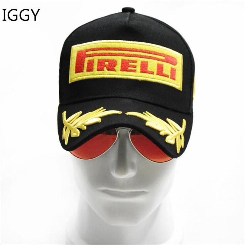 IGGY Hats Baseball-Cap Casquette Snapback Racing-Cap MOTO Black Sun-Hat F1-Style Sports
