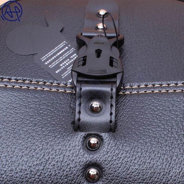 1pcs Motorcycle Black PU Leather Side Clinch Bolt Saddlebag Saddle Bag Universal for Harley Sportster XL883 Cafe Racer Honda