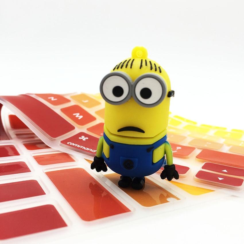 Cartoon Cute Minions Disk USB Stick Memory Pendrive Stick Storage Device USB Flash Drive 128GB 64GB 32GB 16GB 8GB 4GB Pen Drive
