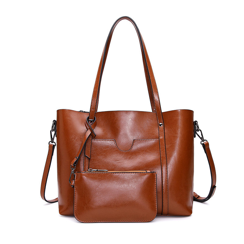 Women Leather Bag Genuine Leather Casual Tote Ladies Shoulder Bag Large Capacity Bucket Bag Soft Shopping Crossbody BagWomen Leather Bag Genuine Leather Casual Tote Ladies Shoulder Bag Large Capacity Bucket Bag Soft Shopping Crossbody Bag