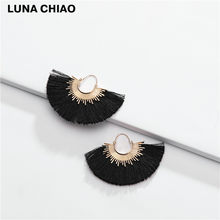 Luna Chiao Wanita Perhiasan Aksesoris Rumbai Anting-Anting Spike Laporan Anting-Anting(China)