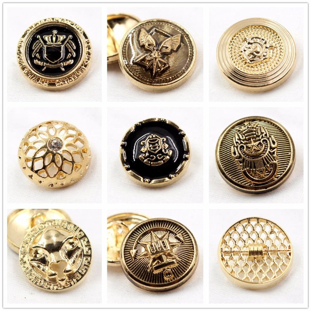 10pcs/lot Brand british style high grade metal buttons coat