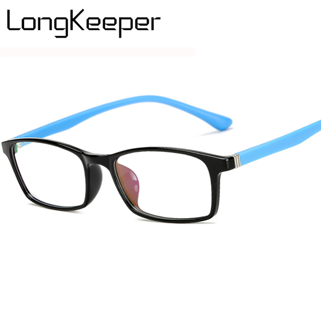 3eb6e239ce LongKeeper Computer Glasses Goggles Gaming Reading Square Eyeglasses Clear  Lens Eyewear Glasses Frame TR90 Women Men AM11733