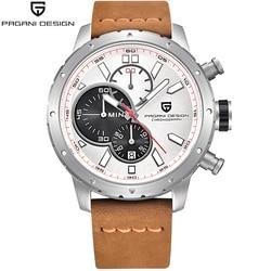 PAGANI DESIGN Men Watch Brand Luxury Men's Fashion Watches Leather 6 Hands Relogio Masculino Military Sports Quartz Wristwatch