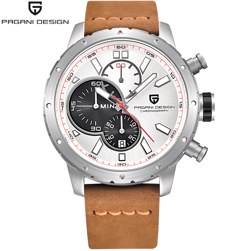 PAGANI DESIGN Men Watch Brand Luxury Men's Fashion Watches Leather 6 Hands Relogio Masculino Military Sports Quartz Wristwatch luxury brand pagani design waterproof quartz watch army military leather watch clock sports men s watches relogios masculino