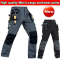 High quality Polycotton men's wear-resistance multi-pockets cargo workwear trousers work pant Black / Dark blue /Army green/Grey