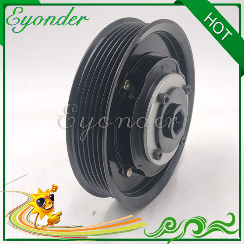 AC A C Air Conditioning Cooling Compressor Electromagnetic Magnetic Pulley Clutch for KIA RIO K2 Hyundai