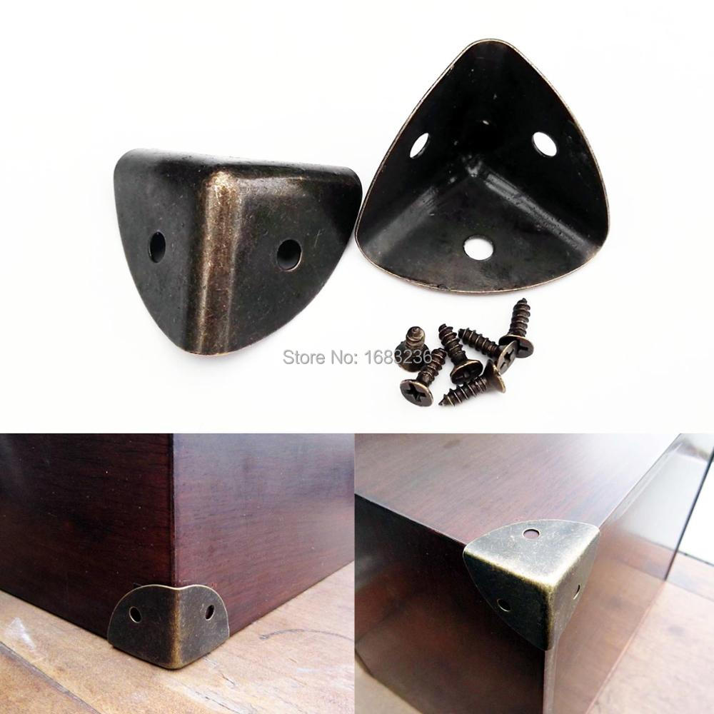 Antique Jewelry Gift Chest Wooden Box Case Corner Protector Guard Hardware 12Pcs