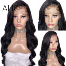 ALICE Loose Wave Lace Front Human Hair Wigs With Baby Hair 180% Pre Plucked Brazilian Lace Front Wigs Remy Hair Wigs Glueless(China)