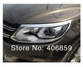 Free Shipping! 13 14 VW Tiguan 2013 2014 Chrome Front Head Light Lamp Headlight Cover trims  VFR