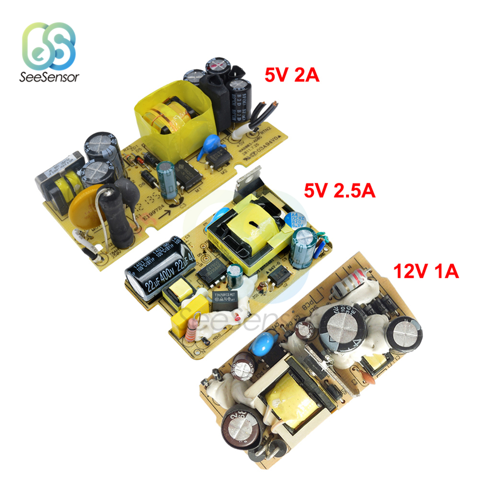 AC-DC AC 100V-240V to DC 5V 2A/2.5A 12V 1A Switching Power Supply Module Switch DC Voltage Regulator 110V 220V