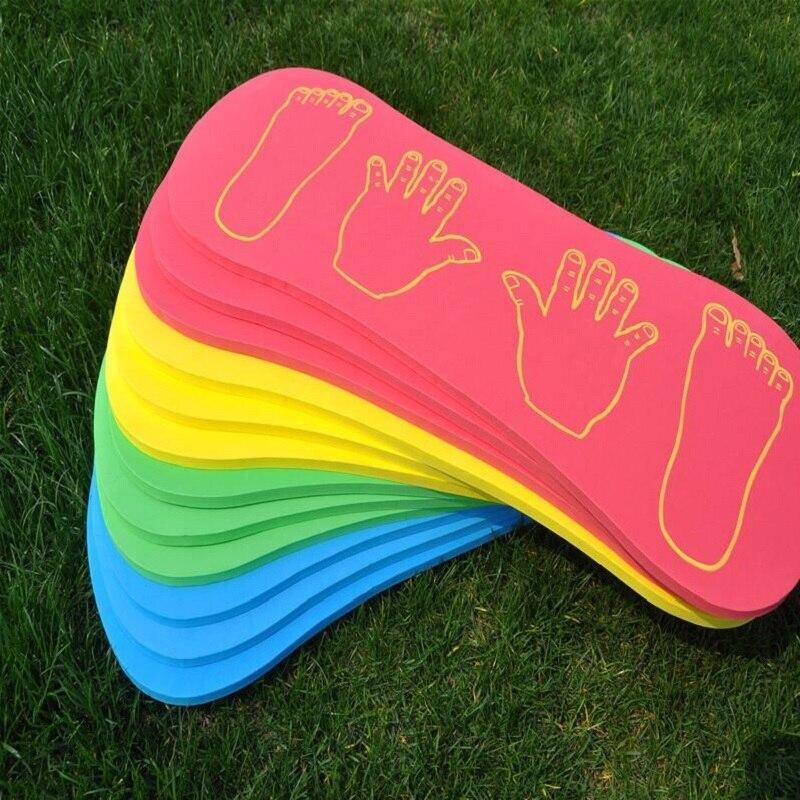 Esportes ao ar livre equipamento de treinamento do sentido de espuma as mãos e os pés da cooperação da diretoria de esportes jogo brinquedos para crianças presente 4 pçs/set