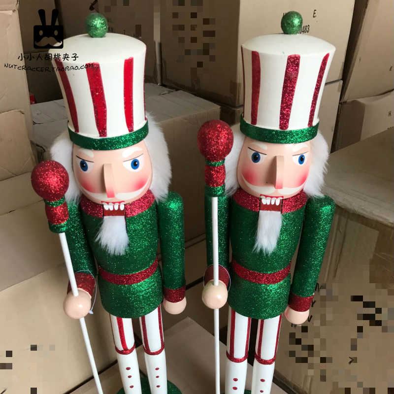 Nutcracker Puppet King Soldier Ornaments Colorful Bright Candy Sequin Fabric Handicraft Creative  Living Room Decoration