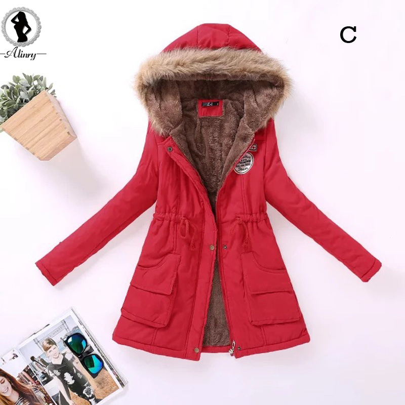 2017 New plus size women winter coats 15 color cotton long sleeves hooded thick fur collar fashion warm women winter jackets new 2015 winter coats women jackets plus size hooded thick patchwork warm cotton padded long ladies cotton