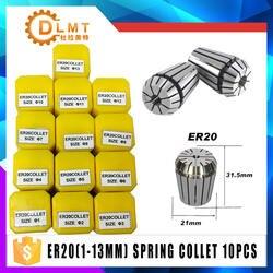 1 шт ER20 1-13 мм 1/4 6,35 1/8 3,175 1/2 12,7 Весна цанговый высокое зажимное приспособление для точного измерения набор для ЧПУ гравировки токарная фреза