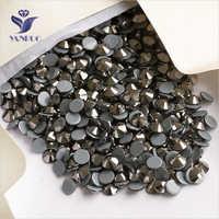 YANRUO 2058HF SS16 Jet Hematite 1440 Uds Hotfix diamantes de imitación hierro gema Diamante decoración cristalina de boda