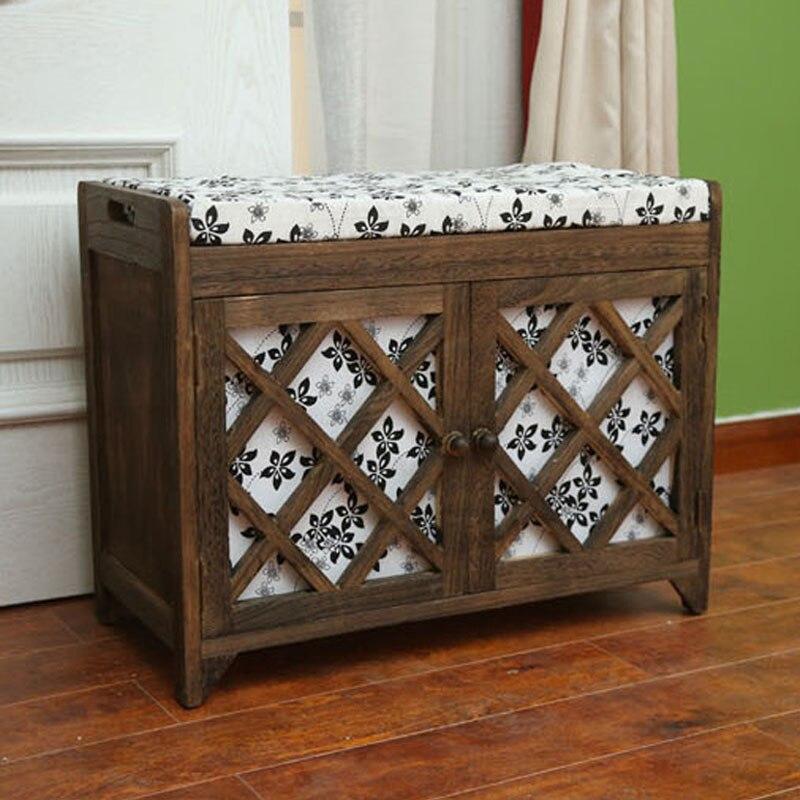 Amazing ZAKKA Vintage Wood Storage Box Bins For Shoes As Cushion Stool Store  Decoration Large Wooden Storage ... Decorative Storage Cabinets Design Ideas