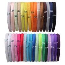 1 лот = 33 шт. Цветной Атлас покрыты Hairbands, 1.5 См девочек атлас Покрытые Волосы оголовье Взрослых и Детей ободки (33 цветов)
