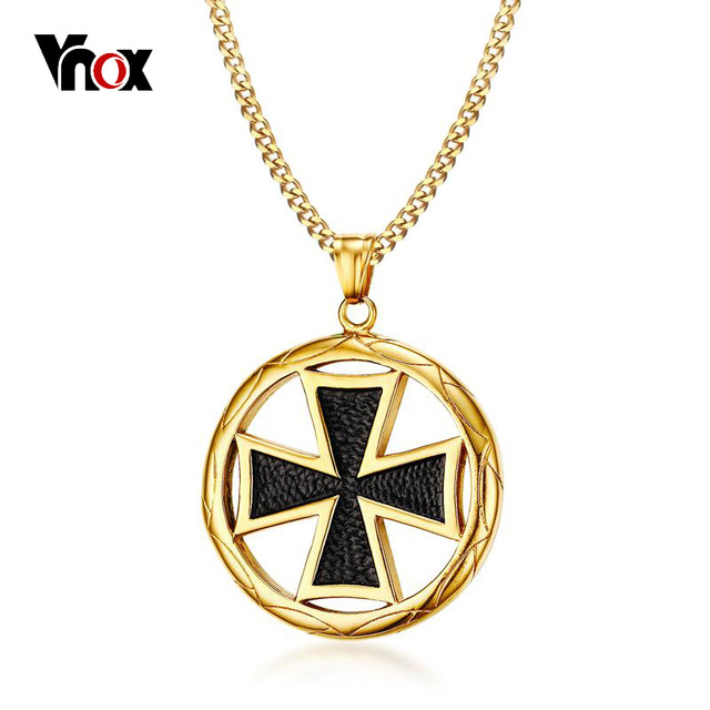 main image maltese mvintage roll cross pendant necklaces slv products