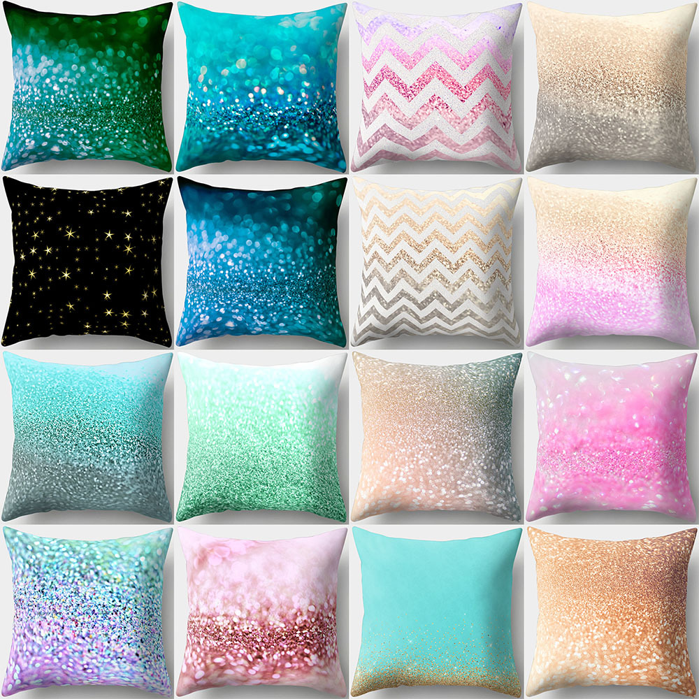Mylb 2018 Fashion Art Cover For Kids Super Soft Pillowcases 45x 45 Cm Glitter Sequins Colorful Pillow Case Sequins Pillow Cover