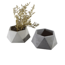 Geometric Concrete Flowerpot Mold Cement Succulent Mould Handmade Gypsum Garden Bonsai Decoration Tool