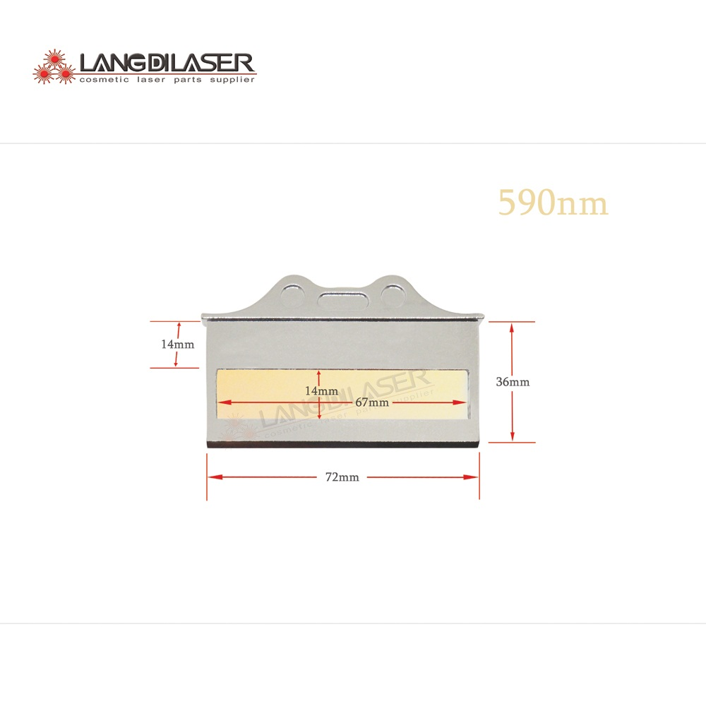 590nm IPL filter for skin rejuvenation 590nm 1200nm IPL laser filters
