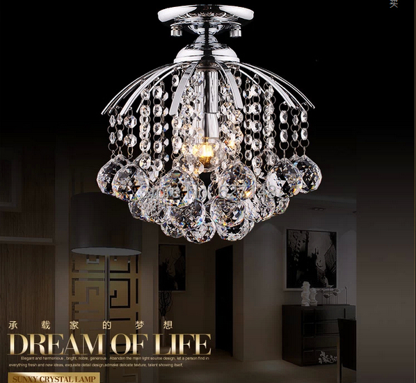 New Small Crystal Chandelier Modern Ceiling For Hallway Corridor Lamp