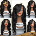 Peruvian Virgin Hair Loose Deep Full Lace Wig For Black Women Wet Wavy Glueless Full Lace Front Human Hair Wigs With Baby Hair