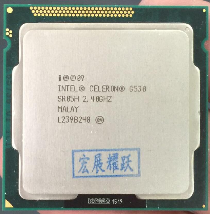 Intel Celeron G530 CPU 2 M Cache, 2,40 GHz LGA 1155 TDP 65 W procesador de escritorio ordenador PC Dual-Core CPU
