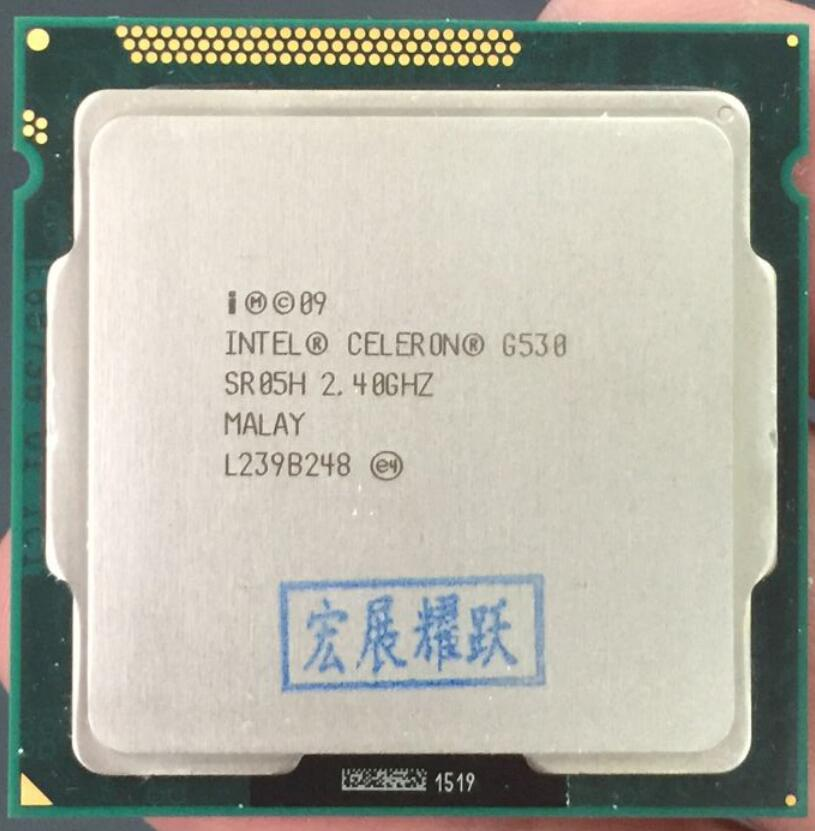 Intel Celeron G530 CPU 2M Cache, 2.40GHz LGA 1155 TDP 65W desktop processor PC computer Dual-Core CPU intel core i3 2120 sandy bridge 3 3ghz lga 1155 65w dual core desktop processor intel hd graphics 20
