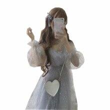2018 SUMMER The legend of the Blue deep sea Fairy dress glittering stars Star Grey Mesh Princess Dress