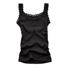 Женские летние сексуальные кружевные топы без рукавов, облегающие темпераментные футболки, модные майки