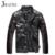 2016 Nueva Marca de Moda Por la Chaqueta de Invierno Los Hombres Cuello Mao Botón de Cuerno de Algodón Down Jacket Hombres Patchwork Alta calidad MA179