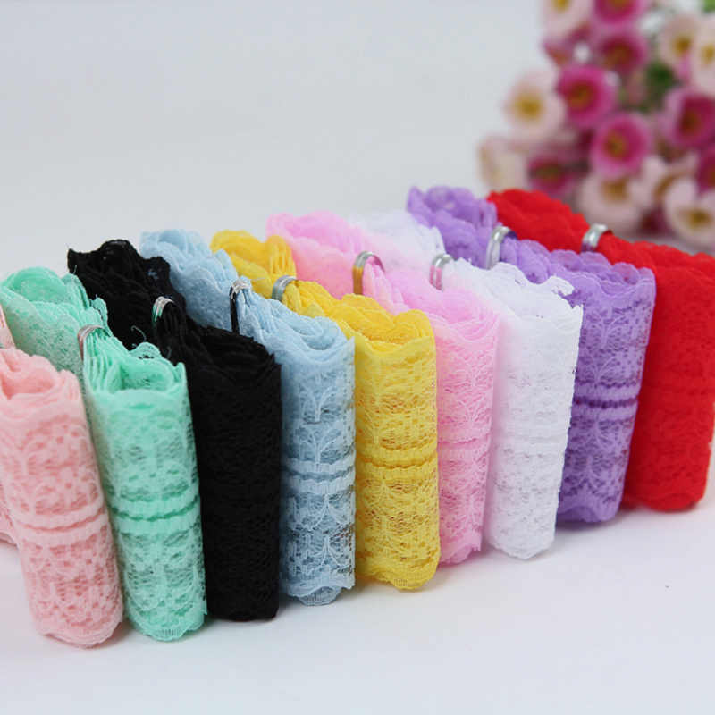 43mm Lace Ribbon DIY Apparel Sewing & Fabric Handmade Material Pink Blue Purple White Lace Trimming Garment Accessories