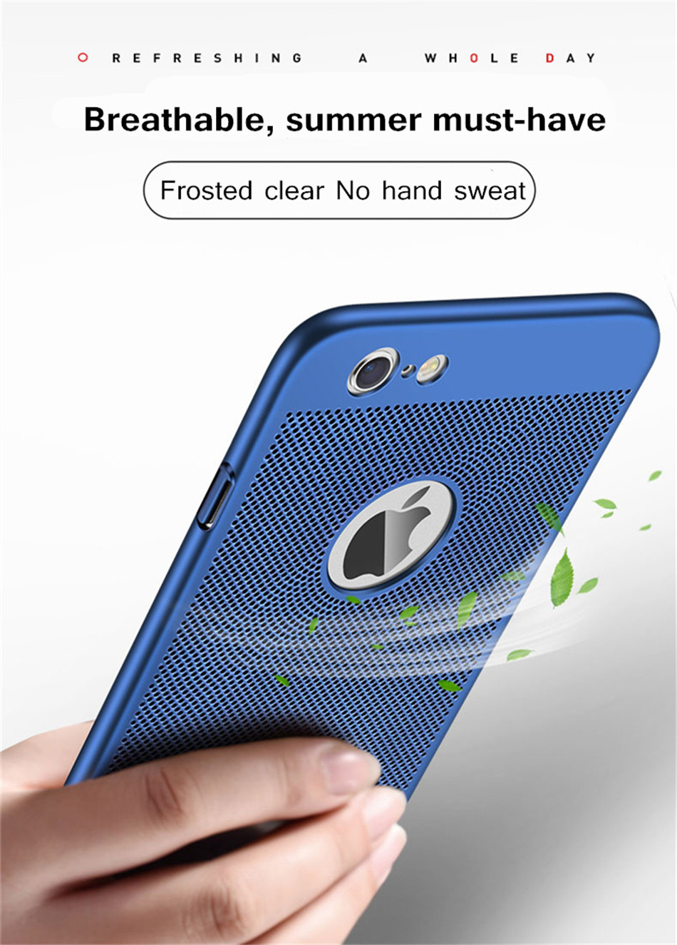 HTB1SB5ifMn.PuJjSZFkq6A lpXaG - Ultra Slim Phone Case For iPhone 6 6s 7 8 Plus Hollow Heat Dissipation Cases Hard PC For iPhone 5 5S SE Back Cover Coque X S MAX