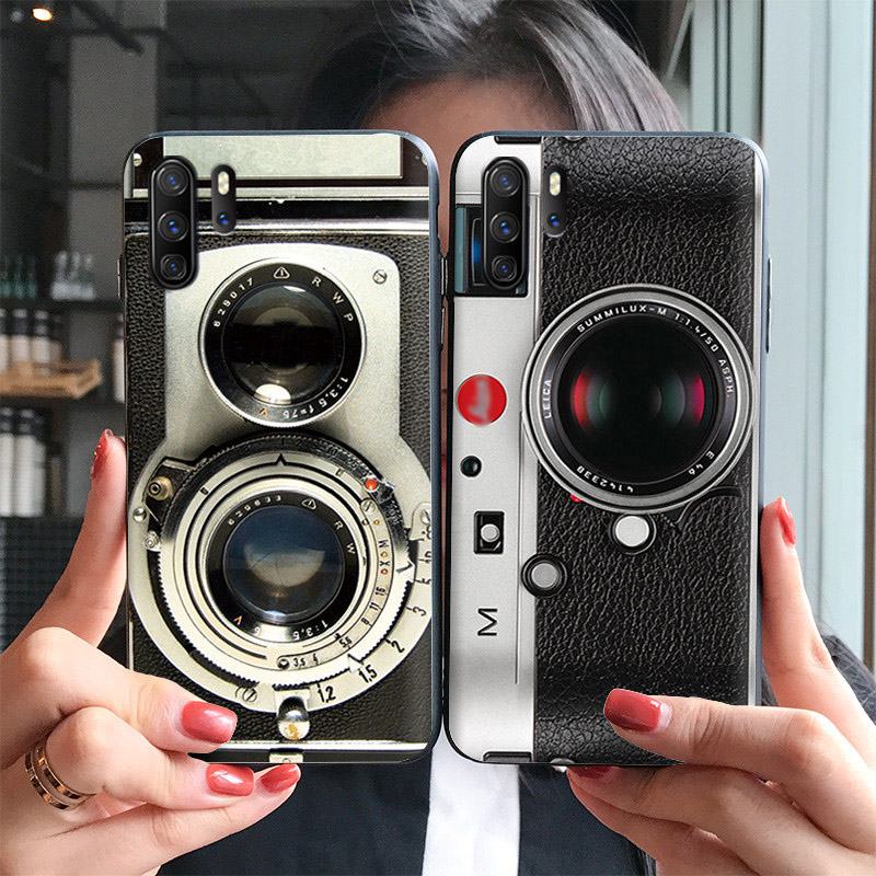 Retro color camera case FOR Huawei P30 PRO P30 Relief cover Retro radio tape embossed case P30PRORetro color camera case FOR Huawei P30 PRO P30 Relief cover Retro radio tape embossed case P30PRO