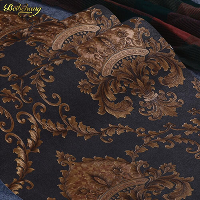 beibehang Luxurious European Gilt Damascus Wallpaper High-grade embossed Living Room Bedroom TV Background Wallpaper Hotel pca 6144s rev b 486 industrial motherboard with cpu memory pca 6144 100% test good quality