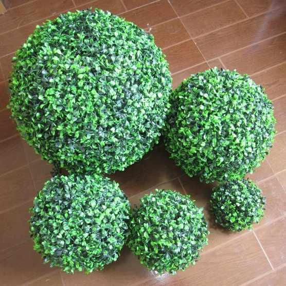 Green Grass Ball Plastic Plant Ornament Party Decoration Garden Decor Wedding Decoration Artificial Flowers