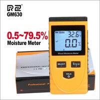 RZ Wood Moisture Meter Digital LCD Display Humidity Tester Wood Water Content Meter Detector Density Hygrometer Tools GM630