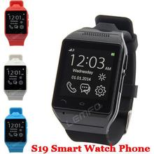 "Smart Uhr S19 Bluetooth SmartWatch Handy 1,54 ""Touchscreen 2MP Kamera TF GSM SMS FM Sync Android OS Hände frei Neue 2015"
