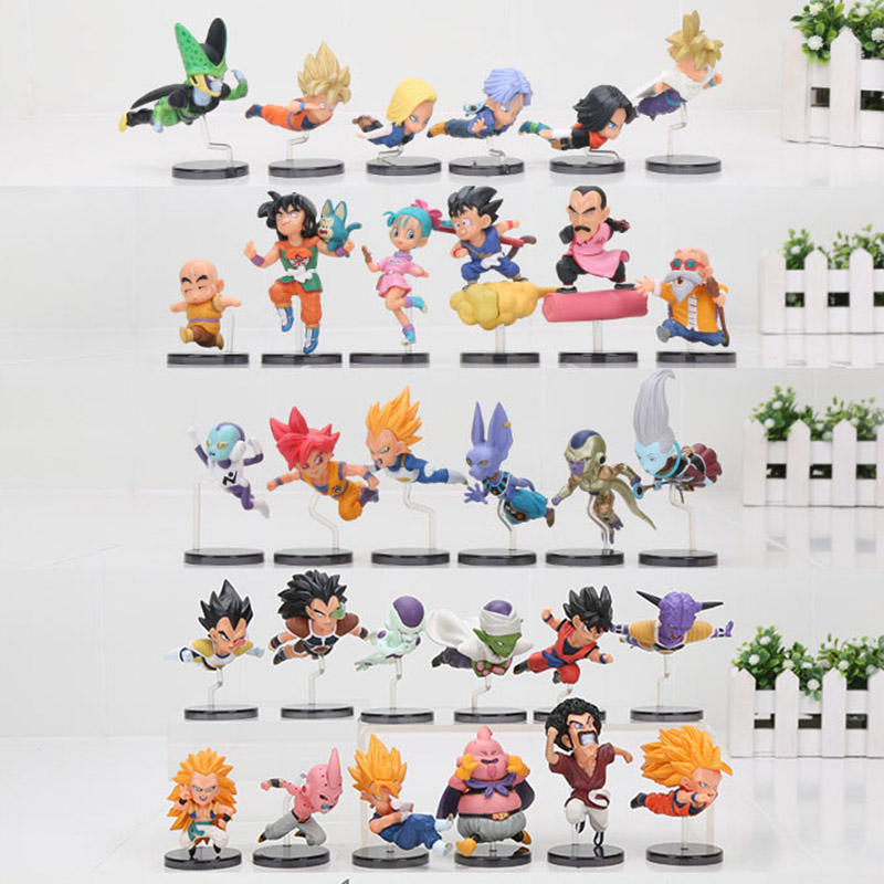 5sets anime Dragon ball Z figure DBZ The Historical Characters Trunks son Goku Gohan super saiyan