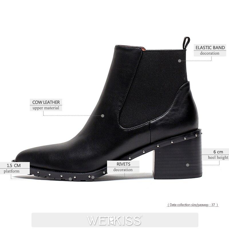 Пикантные красные кожаные женские сапоги до бедра с заостренным носком; Сапоги выше колена на шпильке; модная женская обувь; зимние сапоги; ... - 2