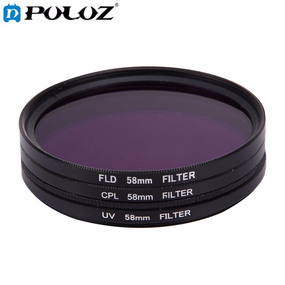 For Go Pro Accessories 3 in 1 58mm Lens Filter CPL UV FLD Purple for GoPro